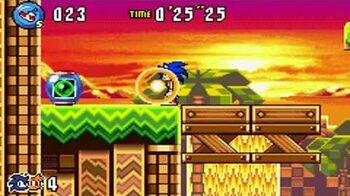 Sonic Advance 3 - Zone 2 Sunset Hill - Act 1 2 3 & VS Boss