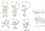 Cesar the Hedgehog concept art