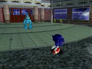 Sonic facing Chaos 0