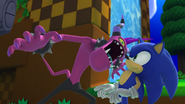 Zazz in Sonic's face