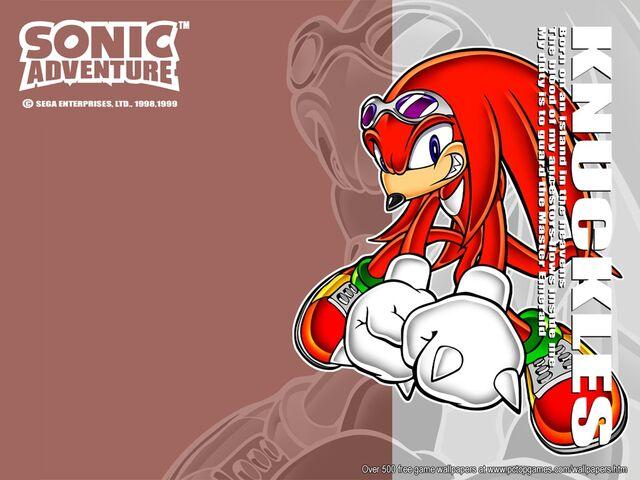 File:Wallpaper - Games - Sonic Adventure - Knuckles.jpg