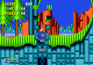 Down tunnel leading loop sonic 2