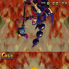 Super Sonic y Burning Blaze frente a frente contra el Egg Wizard en Sonic Rush Adventure