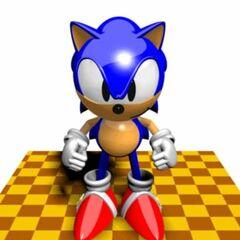 Modelo de Sonic en Sonic X-treme.