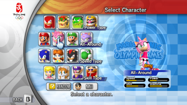 File:Character Select - Amy (Mario & Sonic 2008).png