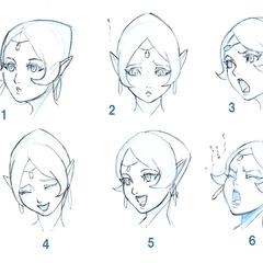 Expresiones faciales de Shahra.