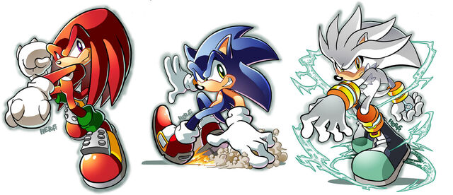 File:Knux Sonic Silver by herms85.jpg
