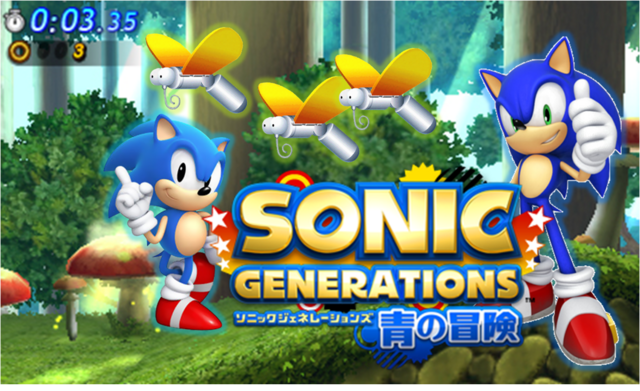 File:Wallpaper 6 - Mushroom Hill, Sonic Generations 3DS.png