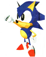 Sonic the Fighters Sonic Artwork