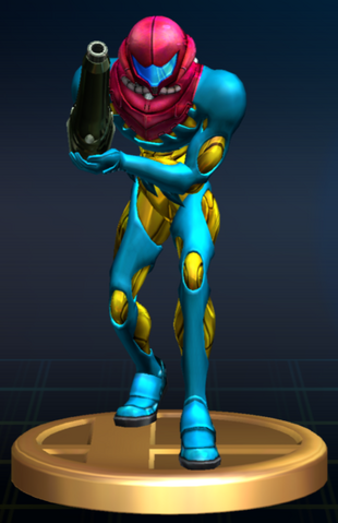 File:Samus (Fusion Suit) - Brawl Trophy.png