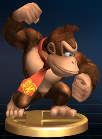 File:Donkey Kong - Brawl Trophy.png