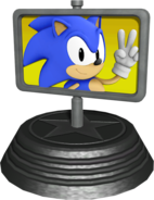 Sonic Generations Goal Plate Statue