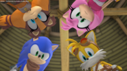 Sonic Tails Amy and Sticks