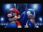 Mario & Sonic at winter