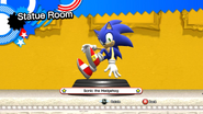 Modern Sonic statue