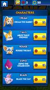 Sonic Dash Character Store
