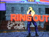 Virtua fighter sonic on wall
