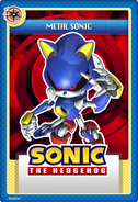 Metal Sonic stampii trading card