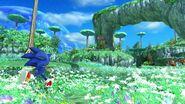 Sonic in Planet Wisp