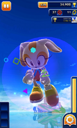 Sonic Dash Cream In mid air with effects