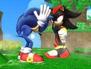SSBB Sonic VS Shadow by cosmovsgoku