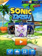 Blaze unlocked in Sonic Dash