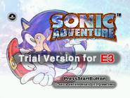 Sonic Adventure E3 Title Screen