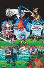 El Sonicaman: Chaos Ninja Team, procedentes de Sentai Zone.