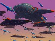 Eggman Fleet in Bullet Station