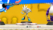 Silver the Hedehog statue