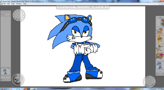 File:640px-Thunder the Hedgehog by Metal.png
