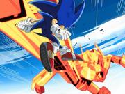 Eggsterminator kicks Sonic
