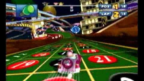 Sonic and Sega All-Stars Racing - Roulette Road Single Race with Amy Rose