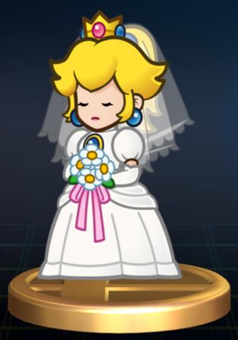 File:Wedding Peach - Brawl Trophy.png