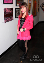 Allisyn Ashley with Brown Hair with Red Highlights