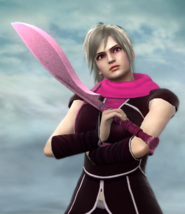 Nina Holding Butterfly Blade
