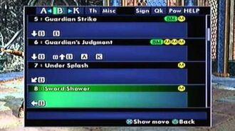 SoulCalibur II PS2 Sophitia's Command List