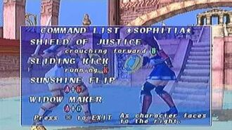 Soul Blade PS1 Sophitia Alexandra's Command List (Part 2 of 2)