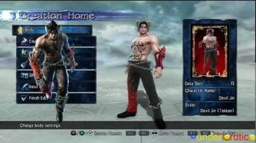 Soulcalibur V Tekken DEVIL JIN Character Creation by Underlordtico