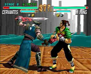 Cervantes vs Li Long in Soulblade