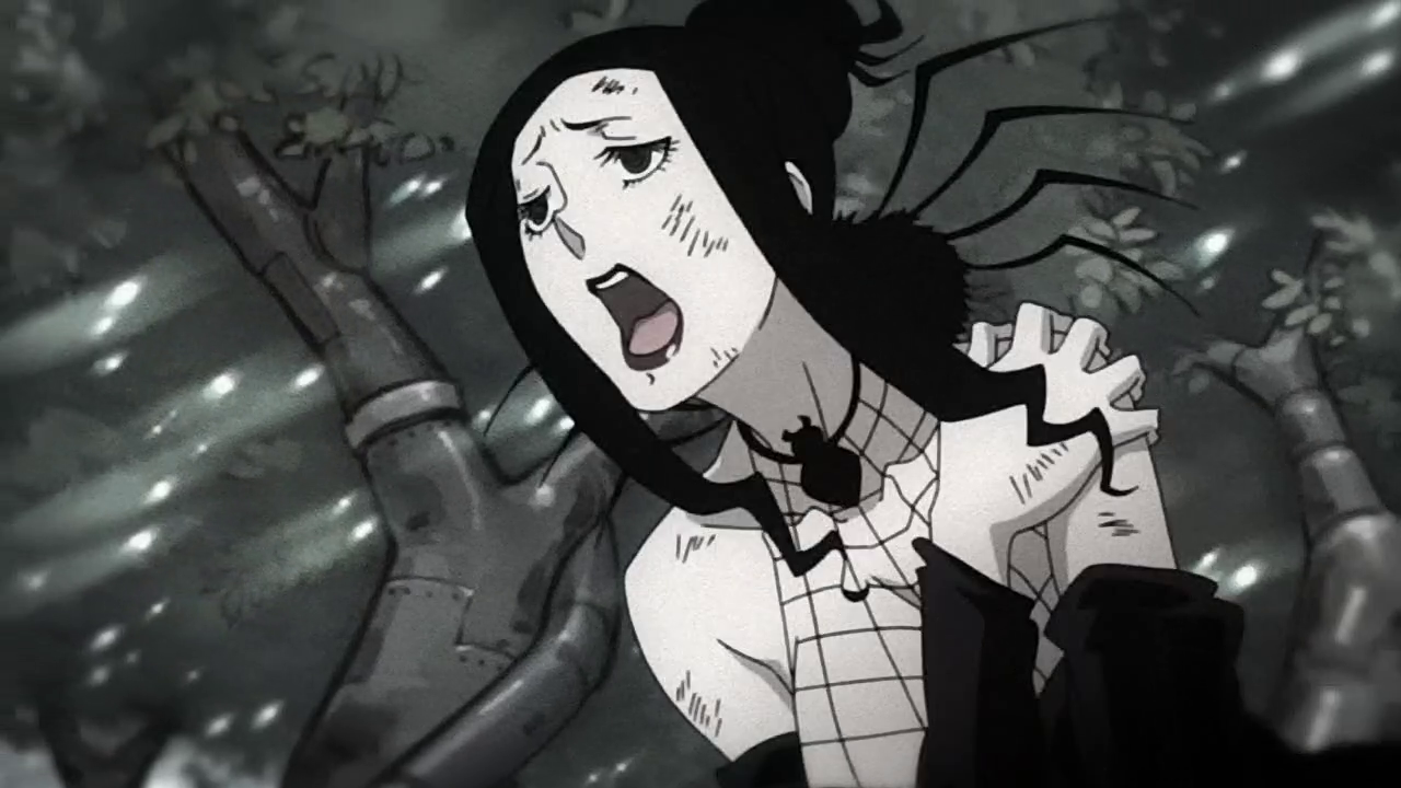 Soul Eater Arachne And Giriko Arachne as she flees from