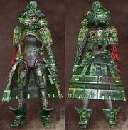 Green Female Warrior