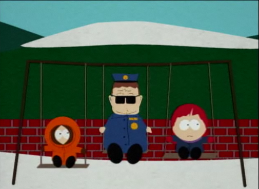 File:Officer barbrady playing on the swings.png