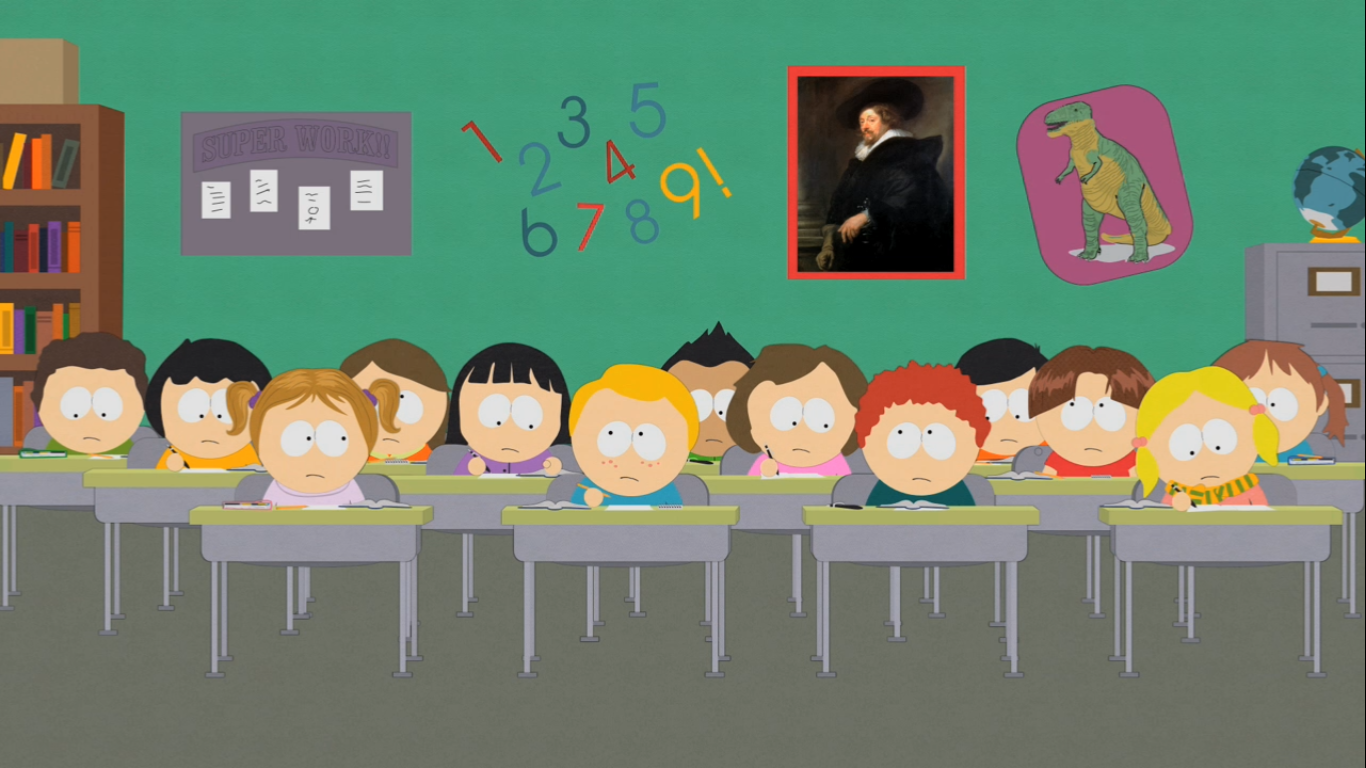 Classroom background cartoon