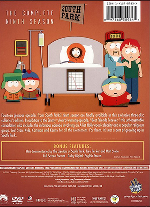 South Park The Complete Ninth Season - Back Cover