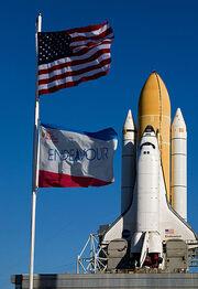 413px-STS-130 Endeavour Rollout 6-1-