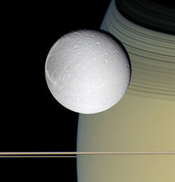 Dione and Saturn