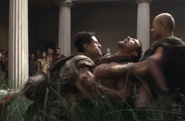 Crixus in mouring