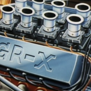 A close-up of the GRX engine (note