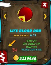 Life Blood Orb 30